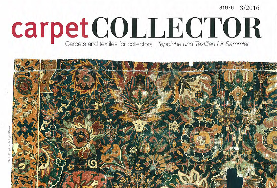 press article of the magazine carpet collector