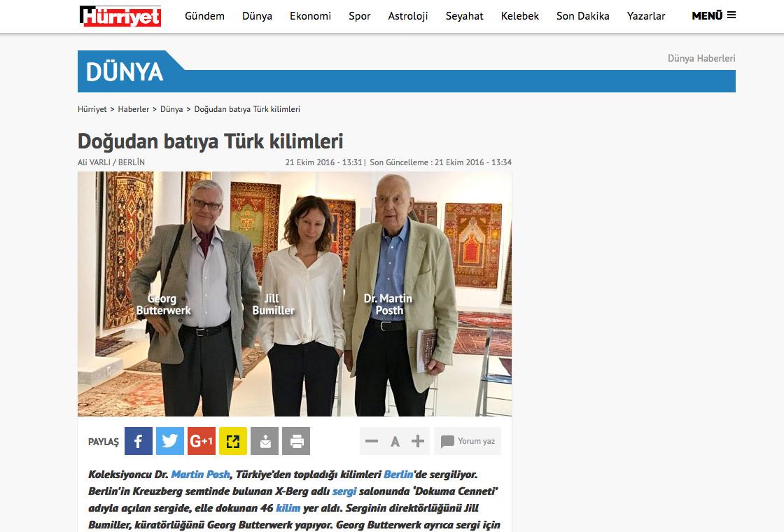 press article of the Turkish news Dünya