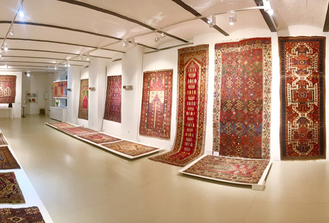 view of the exhibition woven paradise