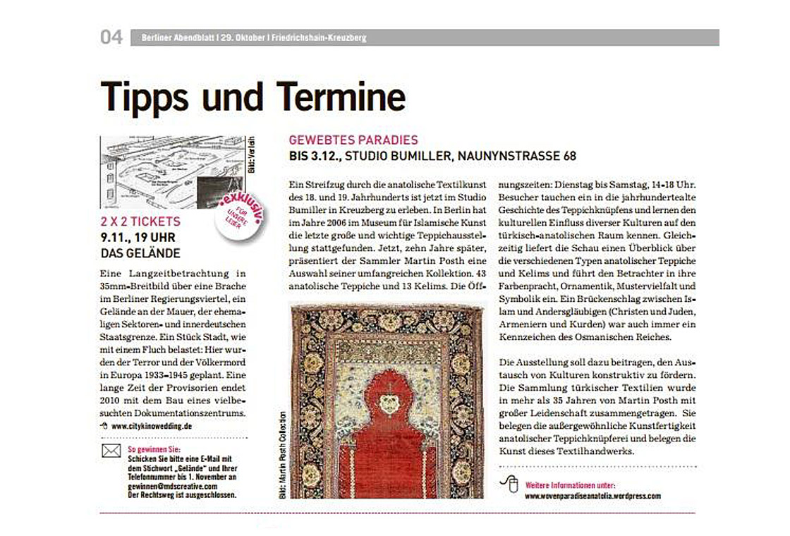press article of the Berliner Abendblatt