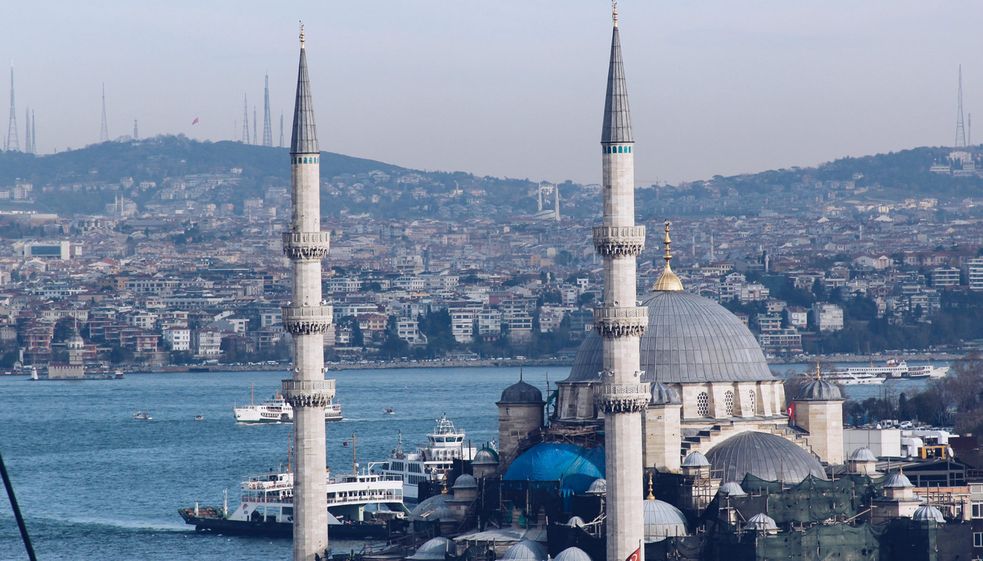 view to the Bosporus in Istanbul