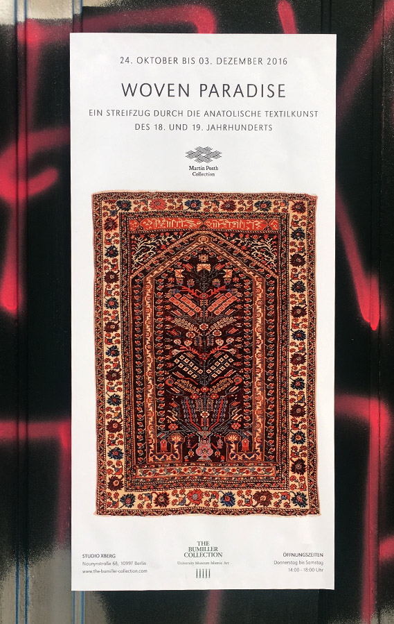 Poster of the exhibition Woven Paradise